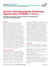 CareManagement Supplement Chronic Thromboembolic Pulmonary Hypertension (CTEPH): A Review