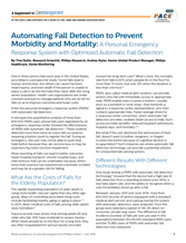 Automating Fall Detection to Prevent Morbidity and Mortality: A Personal Emergency Response System with Optimized Automatic Fall Detection