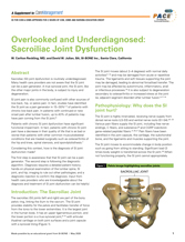 CareManagement Supplement Overlooked and Underdiagnosed: Sacroiliac Joint Dysfunction