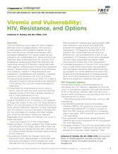 Viremia and Vulnerability: HIV, Resistance, and Options